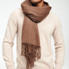 Cashmere Solid Scarf Bark Brown