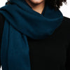 Cashmere Solid Scarf Dark Teal Blue