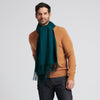 Cashmere Solid Scarf Forest Green