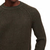 Ribbed Crewneck Sweater Olive