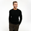 Cable Knit Crewneck Sweater Black