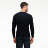 Cable Knit Crewneck Sweater Navy