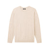 Cable Knit Crewneck Sweater Oatmeal