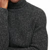 Marled Cashmere Turtleneck Sweater Marled Gray
