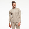 Fleece Quarter Zip Sweatshirt Sage Green