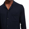 Pajama Button Up Shirt Set Navy