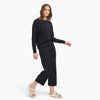 Café Cotton Cashmere Cropped Sweatpant Black
