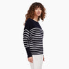 Striped Cashmere Oversized Boatneck Sweater