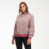 Wool-Blend Drop Shoulder Cowl Neck Hoodie Lilac Combo