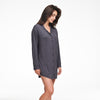 Pajama Button Up Dress