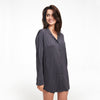 Pajama Button Up Dress Granite