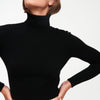 Cashmere Cropped Turtleneck Black