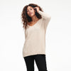 Cashmere Oversized V-Neck Sweater Oatmeal
