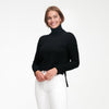Cashmere High-Low Turtleneck Black