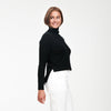 Cashmere High-Low Turtleneck