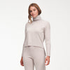 Cashmere High-Low Turtleneck Pale Gray