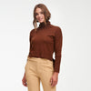 Cashmere High-Low Turtleneck Walnut Brown