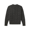 Cable Knit Crewneck Sweater Smoke Marl