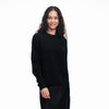 Recycled Cashmere Crewneck Sweater Black