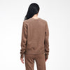 Recycled Cashmere Crewneck Sweater Marled Brown