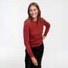 The Essential $75 Cashmere Sweater Womens Red Sangria