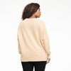 Cashmere Oversized Crewneck Sweater Pale Yellow
