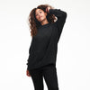 Cashmere Oversized Crewneck Sweater Smoke
