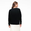 Luxe Cashmere Oversized V-Neck Sweater Black