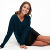 Luxe Cashmere Oversized V-Neck Sweater