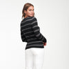 Cashmere Striped Crewneck Sweater
