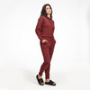 Fleece Sweatpant Heather Burgundy