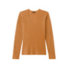 Cashmere Scoop Sweater Dark Ginger