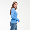 Cashmere Scoop Sweater Cornflower Blue