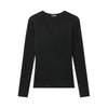 Cashmere Scoop Sweater Black