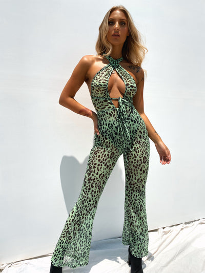 ONE MORE TIME JUMPSUIT GREEN - Generation Outcast Clothing