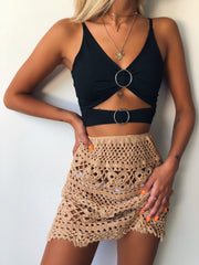 COASTLINE SKIRT TAN - Generation Outcast Clothing