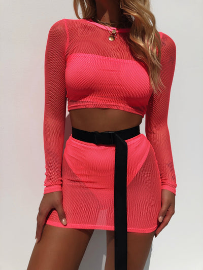 NOVA TWO PIECE SET PINK - Generation Outcast Clothing