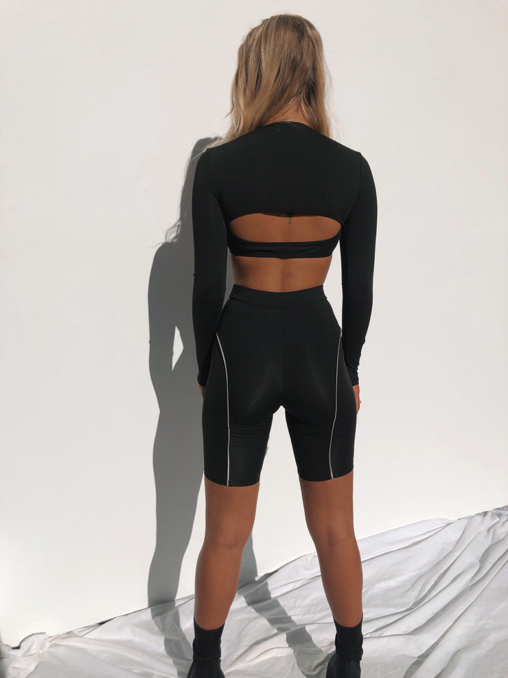 NIKKI TWO PIECE SET BLACK - Generation Outcast Clothing