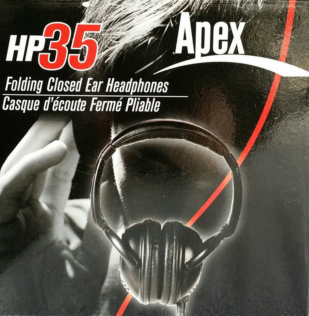 Apex HP35 Folding Closed Ear Headphones