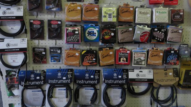 Strings, Cables, capos, humidifiers tuners......