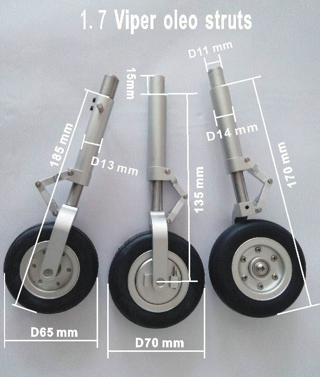 Struts and Wheels With E-Brake for Viper Jet 120