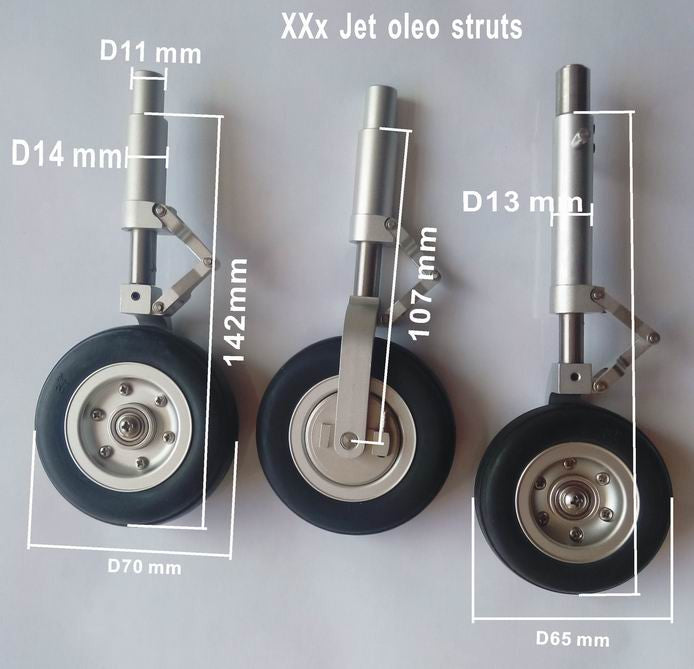 Struts and Wheels With Brakes for xXx (Air or E-Brakes)