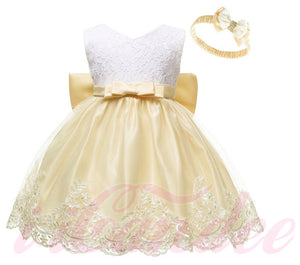 Kids Girls Lace Special Occasion Princess Dress • Flower girl Dress - iiCandee