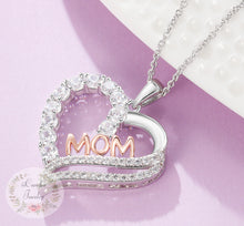 "Load image into Gallery viewer, Necklaces for Mum, 925 Sterling Silver""Mum I Love You"" Pendant Necklace"