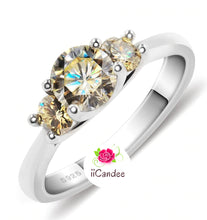 Load image into Gallery viewer, Buy Moissanite Engagement Rings for sale Free Shipping -  Shop iiCandee jewelry for engagement rings, wedding sets, women's wedding bands, princess cut sterling silver bridal set, sterling silver princess cut engagement rings, sterling silver cubic zirconia wedding sets, 925 sterling silver wedding ring sets, Affordable Engagement Rings - Affordable Wedding Bands, cheap engagement rings that look expensive, Bridal sets at affordable prices and Free Shipping | iicandee
