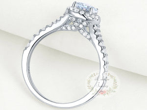 Shop for Sterling Silver Pear Shape Engagement Ring - Bridal Ring Set on sale at iicandee