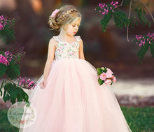 Load image into Gallery viewer, Baby Toddler Girls Princess Sleeveless Floral Tulle Mesh Dress • Special Occasion Dress - iiCandee