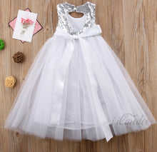 Load image into Gallery viewer, Kids Toddler Girls Sequin Tulle Ball Gown Dress • Special occasion Dress • Wedding Dress • Flower Girl Dress - iiCandee