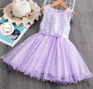 Girls Baby Toddler Princess Party tutu Tulle Lavender Dress • Special Occasion Party Dress - iiCandee