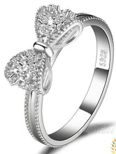 Load image into Gallery viewer, Shop for custom engagement rings, custom made wedding rings, custom engraved rings cheap, engraved rings for her, personalized wedding bands, silver ring with name, silver couple rings with names engraved, silver name ring on sale at iicandee.com